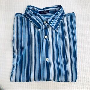 100% Cotton Men's Button-down Dress Shirt